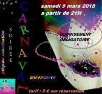Samedi 9/03/2019 Soirée carnaval deguisement obligatoire entré a 5€