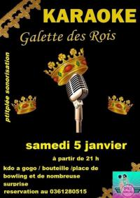 Soirée Karaoké Special galette des rois samedi 05/01/19 des 21 h a Le Portel