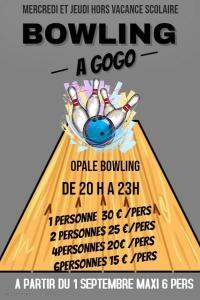 Nouveau chez Opale Bowling nous proposons le bowling a GoGO